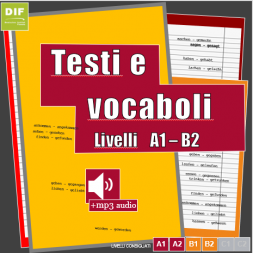 Testi di studio completi e vocabolario base