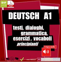 Deutsch A1 - Un testo di studio completo per principianti